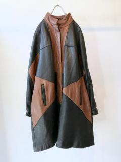 Old Flagrant Design Leather Coat