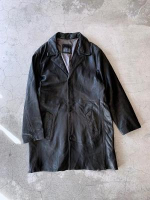 vintage Leather half coat