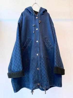vintage Hooded denim coat