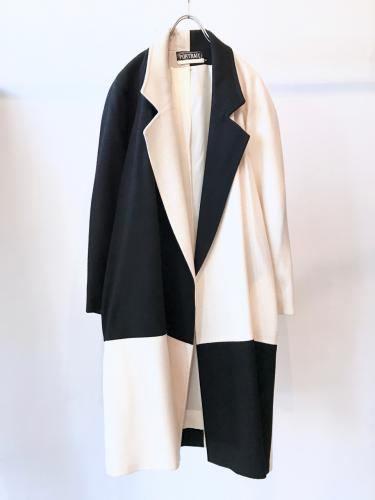 "Old ""PORTRAIT"" Bi-Color Wool Coat"