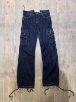 00s Texture denim pants