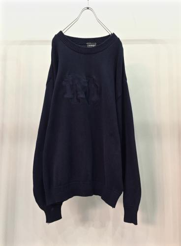 Navy cotton knit