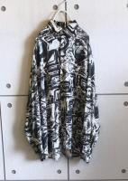 L/S OverSized Pattern Shirt