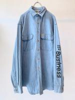 """BUSINESS AS USUAL"" Denim Shirt Vintage ""CARHARTT"""