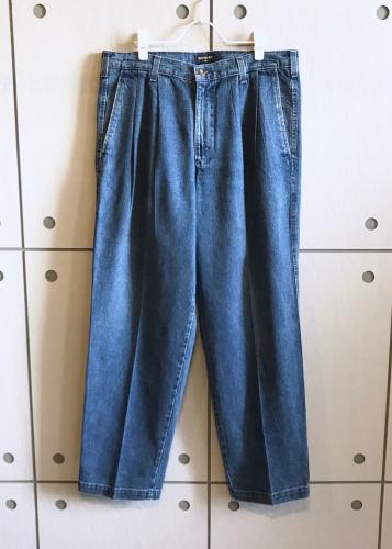 Denim Slacks Pants