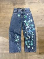 wide paint denim pants