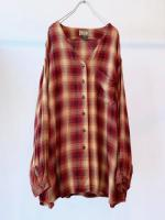 00s Rayon Collarless Shirt