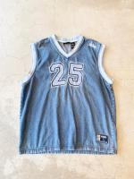 Denim Basketball Jersey Tops