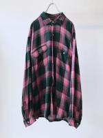 Old Rayon Check Shirt