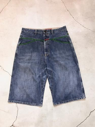 """Marithé François Girbaud"" Wide Denim Short"