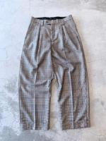 vintage Pattern Wide Trousers