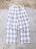 Old Check Wide Slacks