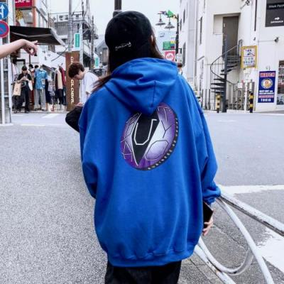 """BUSINESS AS USUAL"" BAUTYO DISK HOODIE【BLU】"