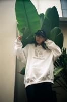 """BUSINESS AS USUAL"" ARCADE HOODIE【WHT】"