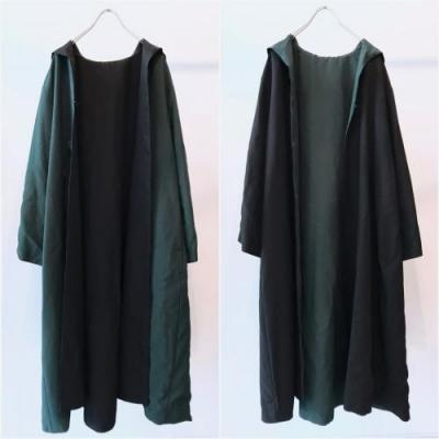 80s Luxe Hooded Haori Coat