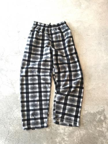 Fleece CheckPattern EZ Pants