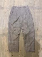 glen check pattern trousers